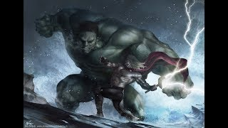 Thor vs The Hulk - Every Canon Fight Ever