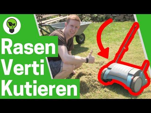 Rasen vertikutieren ✅ ULTIMATIVE ANLEITUNG: Wann Moos im Garten mit Elektro Vertikutierer entfernen?