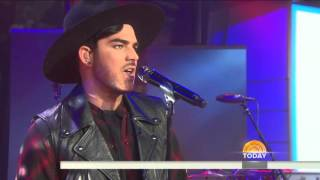 """Adam Lambert sings """"Ghost Town"""" Live at the Today Show   Mike vocals only"""