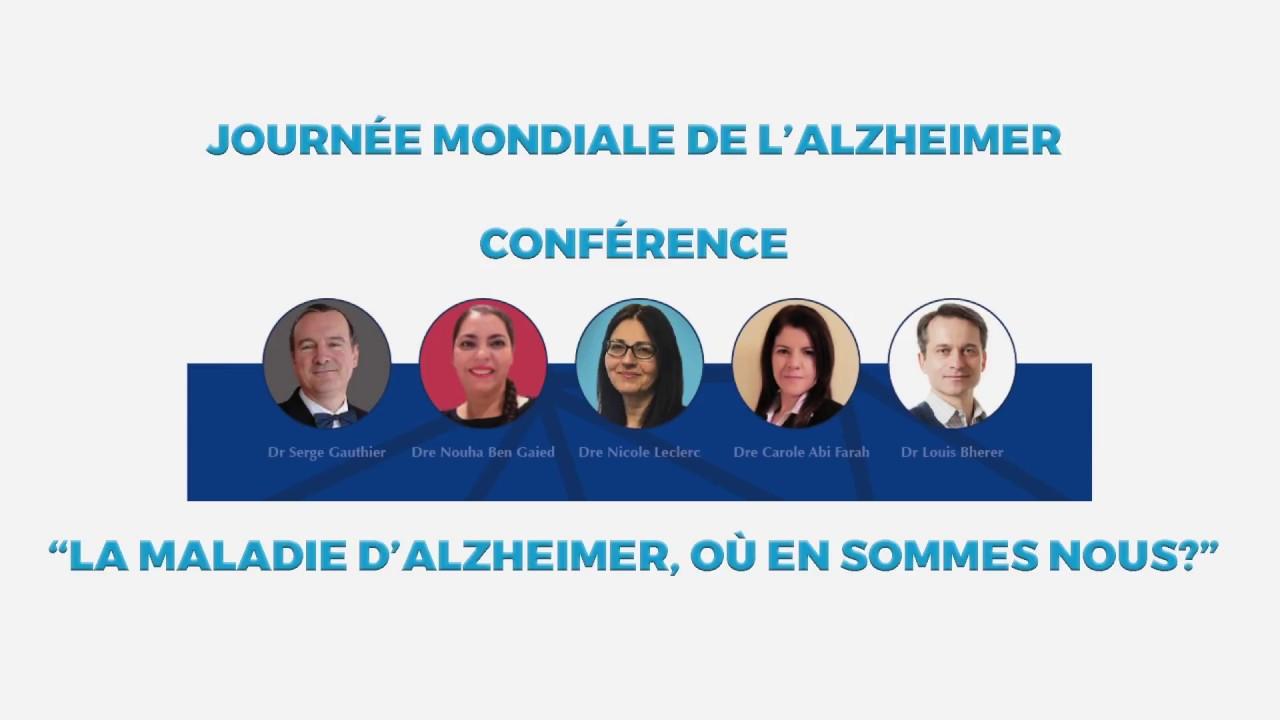 """Conférence """"La maladie d'Alzheimer, où en sommes-nous?"""""""