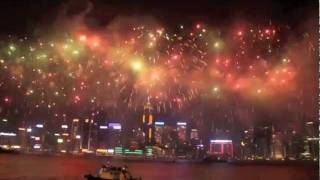 Video : China : National Day fireworks, Hong Kong 香港