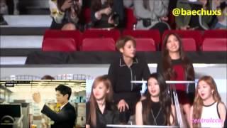 151202 Irene's reaction to Park Bogum's VCR on MAMA 2015 #BoRene