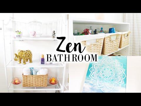 Small Bathroom Makeover | Zen Themed Decor & DIYs
