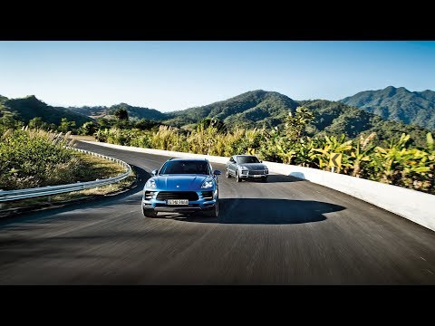 The Porsche Cayenne and Macan on a road trip through Nan Province in Thailand