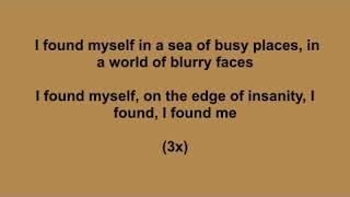 i found myself kareoke with lyrics