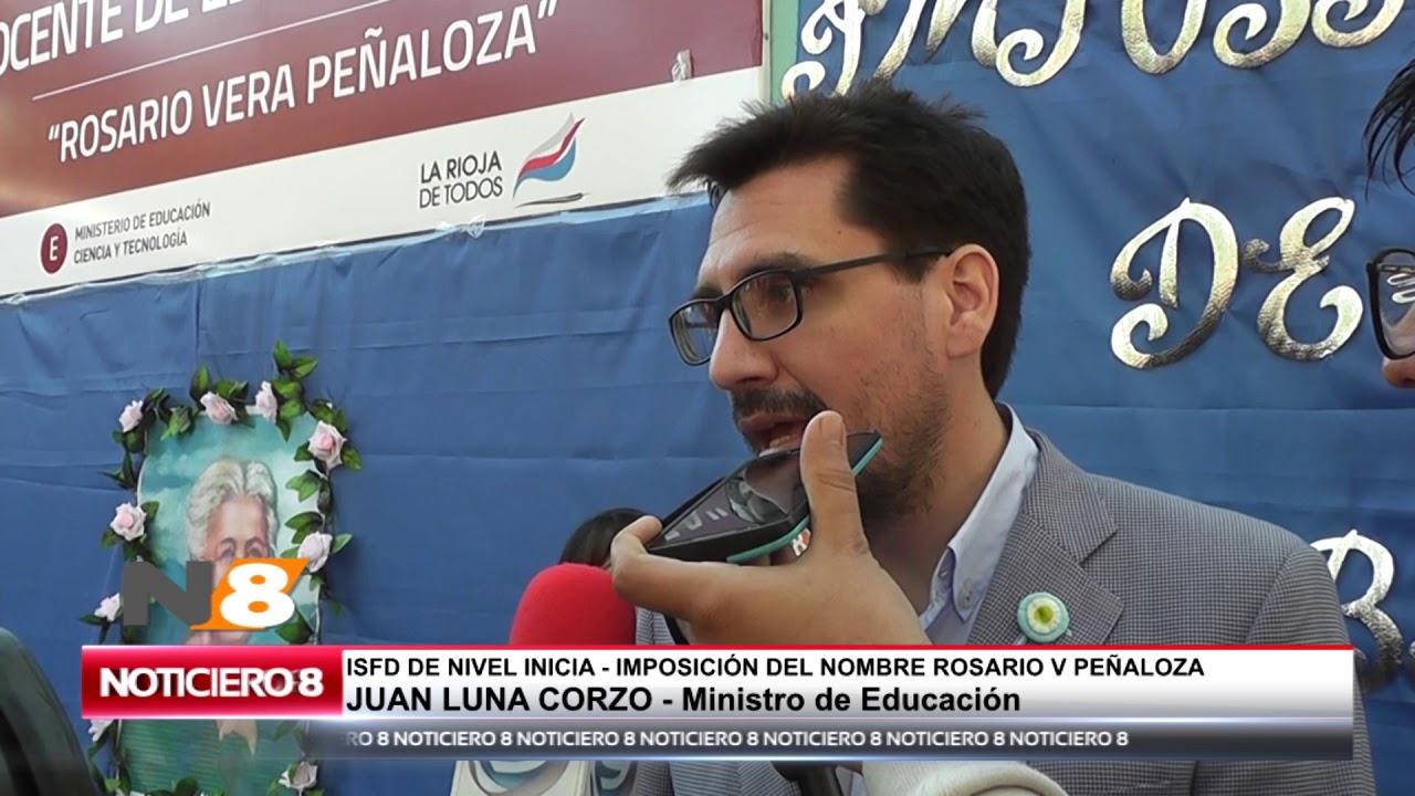 MINISTRO DE EDUCACIÓN DE LA RIOJA JUAN LUNA CORZO
