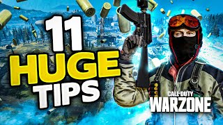 Warzone 11 HUGE tips on how to get BETTER & get MORE KILLS! (Cold War Warzone)