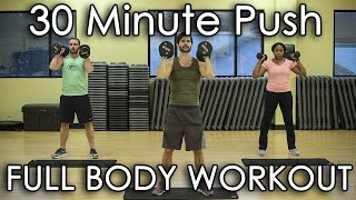 30 Minute Workout | Full Body Push Exercises | HIIT Weight Loss Training For Women and Men by Vegan Fit
