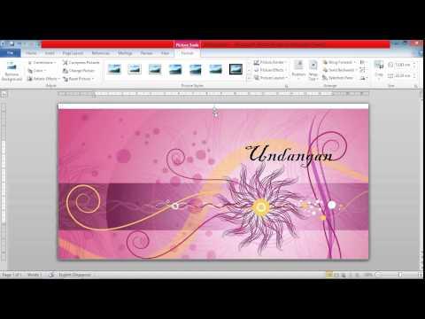 Video tutorial membuat kartu undangan pernikahan