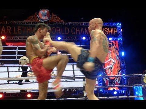 World Lethwei (Burmese Bareknuckle Boxing) Championship Fight I Victor Hugo Nunes