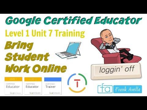 Google Certified Educator Level 1: Unit 7 - YouTube
