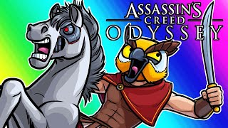 Assassins Creed Odyssey Funny Moments - Brian the Horse and Blowing Up Ships!