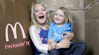 We Pretend To MAIL OURSELVES TO MCDONALDS! (skit)