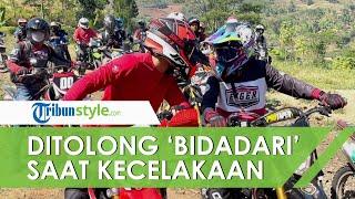 Wabup Bandung Barat Hengky Kurniawan Jatuh dari Motor, Langsung Ditolong oleh 'Bidadari'