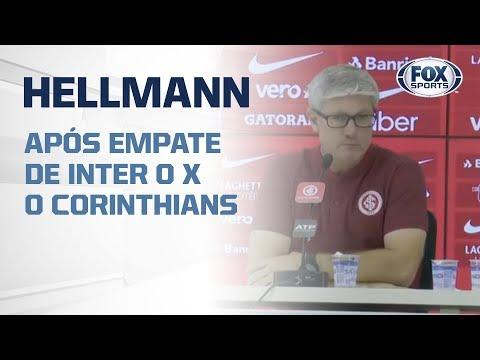HELLMANN AO VIVO! Técnico colorado fala após empate de Internacional 0x0 Corinthians no Brasileirão