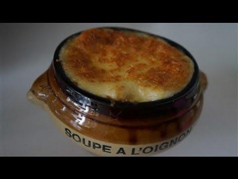 soupe à l'oignon gratinée ( CUISINERAPIDE)