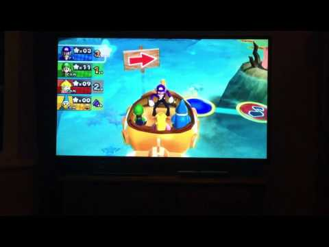 Mario Party 9 - Blooper Beach (Blooper Boat) - 2 Player Party Mode