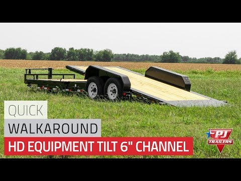 2021 PJ Trailers HD Equipment Tilt 6 in. Channel (TJ) 22 ft. in Kansas City, Kansas - Video 1