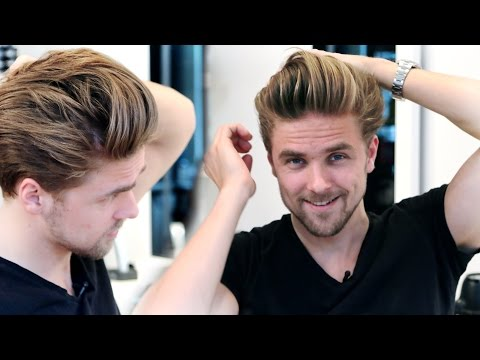 Men's medium hair lenght with high volume blow out   GIVEAWAY   Men's hairstyling inspiration 2015