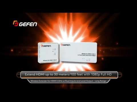 Gefen New Products 2015 - Wireless Extender for HDMI 5GHz  Long Range