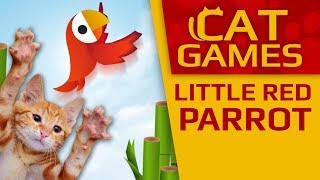CAT GAMES - Little Red Parrot (VIDEOS FOR CATS TO WATCH) 4K