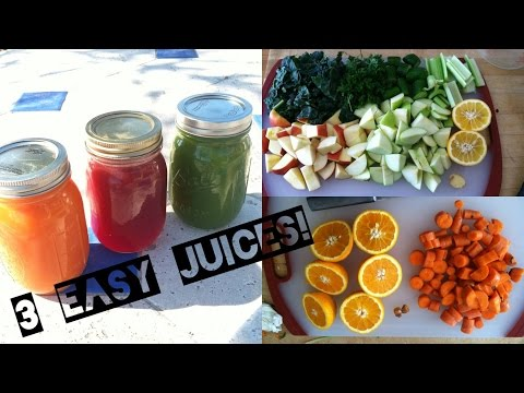 Video 3 EASY RAW VEGAN JUICE RECIPES