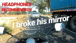 I Broke his mirror | Roadrage | Angry Bikers vs Dumb Car drivers | Daily Observation #2