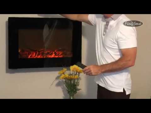 Fire Sense 31-Inch Wall Mount Electric Fireplace