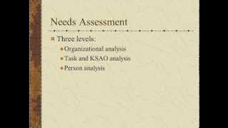 Employee Training - Needs Assessment