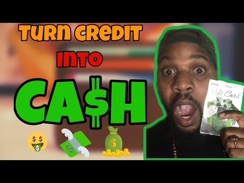 HOW TO GET CASH OFF OF A CREDIT CARD!