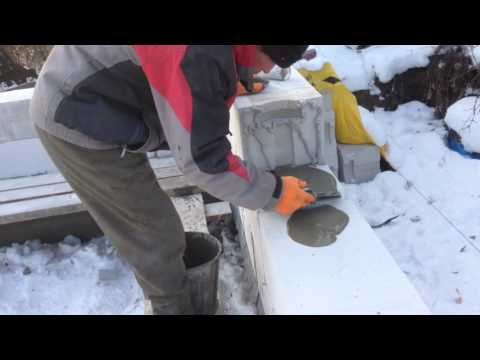зимняя кладка газобетона