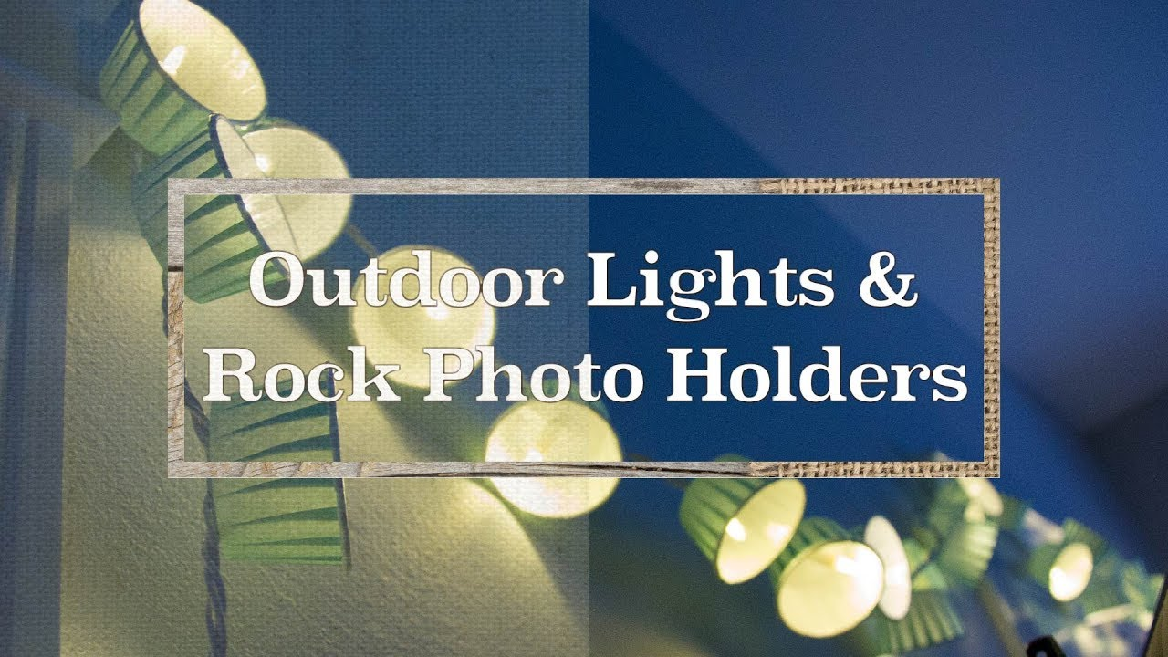 Outdoor Lights & Rock Photo Holders