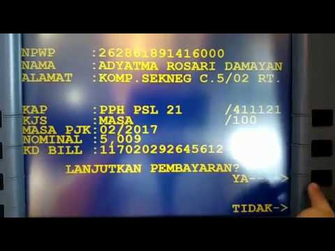 e Billing Pajak lewat ATM Mandiri Satu Menit Beres!!!