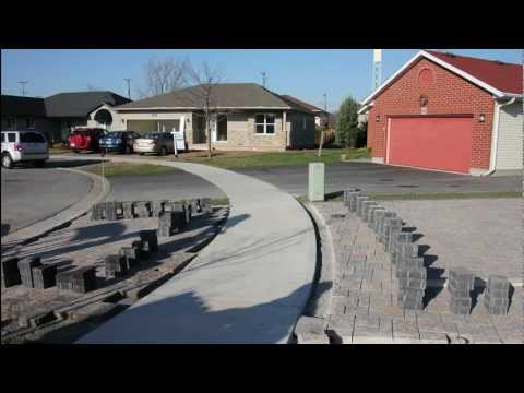 , title : 'Building a Driveway with Stone Pavers Video from still pictures'