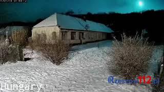 Meteor 19.01.2021 Hungary, Slovakia, Poland compilation