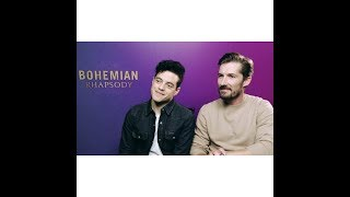 Interview of RamiMalek and GwilymLee tells us his role in the movie BohemianRhapsody -Sub in Spanish