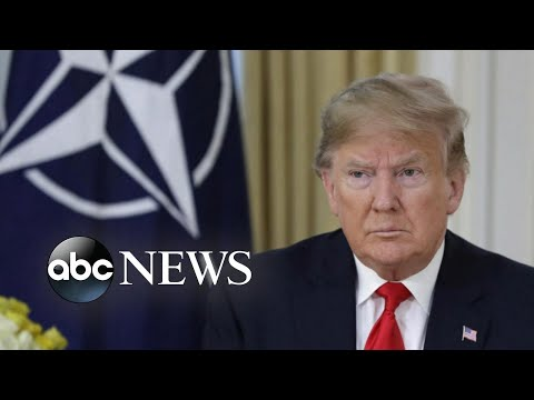 President Trump arrives in UK for NATO summit   ABC News