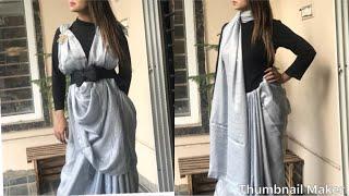 Trendy Way Of Wearing A Saree/saree Draping/celebrity Style Saree Drap/saree Tutorial