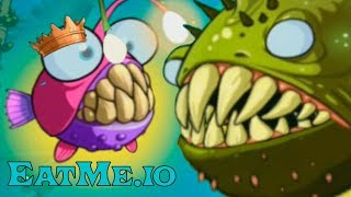 Рыба Удильщик 2 Эволюция EatMe.io \ Страшная рыба морской черт в игре - EATME.IO