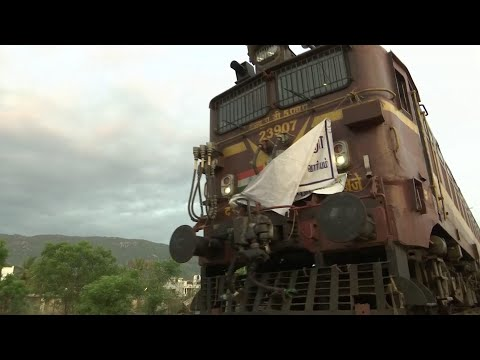 Every day, a train makes a 134-mile journey to bring 660,000 gallons of drinking water to Chennai, India's parched Motor City. (July 29)