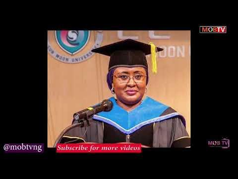 BUHARI : AISHA BUHARI MENTIONS THOSE THAT DOMINATES BUHARI IN ASO ROCK...MOBTV.