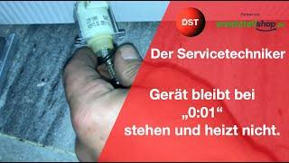 Gerät bleibt bei 0:01 stehen Siemens/ Bosch Geschirrspüler ( Zusammenfassung) Der Servicetechniker