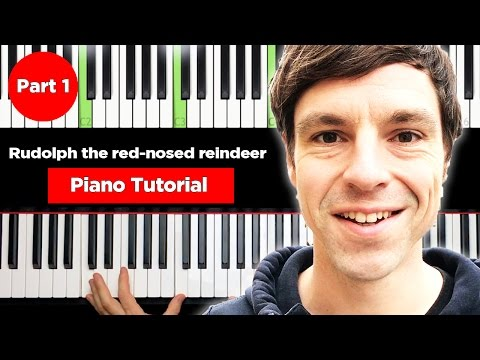 Rudolph the red-nosed reindeer – Christmas Piano Tutorial easy