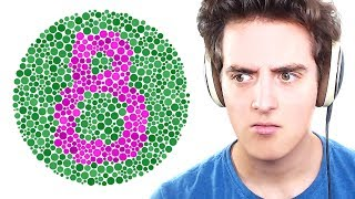TAKING A COLOUR BLIND TEST!