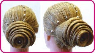 Смотреть онлайн Урок свадебной прически на средние волосы
