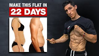 "Get a ""Flat Stomach"" in 22 Days! (HOME WORKOUT)"