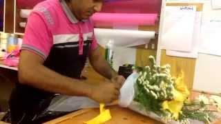 preview picture of video 'Flower Shop in Arbil: How to make a bouquet in Kurdistan HD'