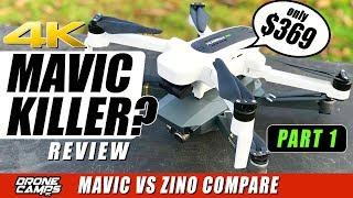 DJI MAVIC KILLER? - HUBSAN ZINO 4K Drone $369 - Compare, Flights, Range - Honest Review