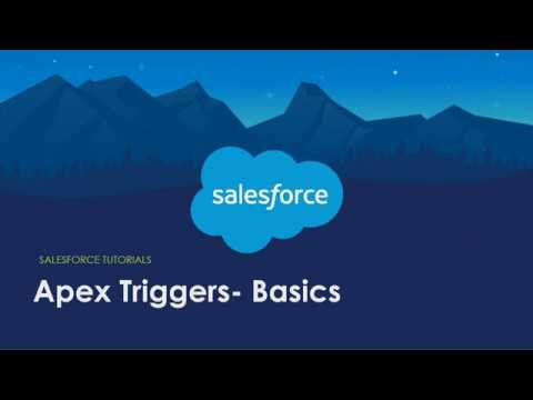 Salesforce Learning - Apex Triggers - YouTube