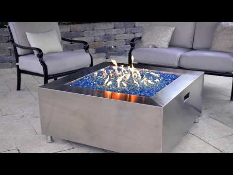 Lakeview Outdoor Designs 42-Inch Stainless Steel Square Fire Pit